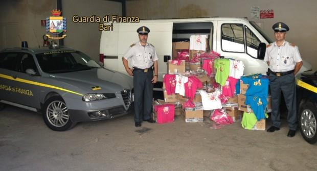 Abiti per bambini contraffatti